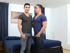 Introducing Lance Luciano, Topher DiMaggio's real life boyfriend, in his very first porn scene!