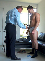 Scotty, gay for pay, signs up for his first scene.