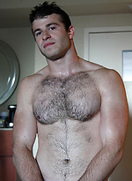 Straight mates - Shy guy Blake Davis strips