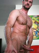 Dark haired Massimo Forte shows his cock